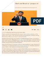 China's Xi hails Belt and Road as 'project of the century' Fuente FT