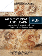 Memory Practices, And Learning Interactional, Institutional, And Sociocultural Perspectives