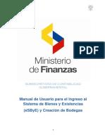 1.Manual de Usuario y Creación de Bodegas en El ESByE Al 21-06-2016