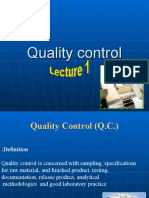 Quality Control of Tablets Lecture 1
