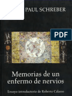 Memorias de Un Enfermo de Nervios [Daniel Paul Schreber]