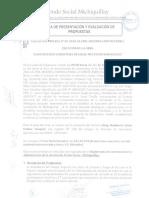 Acta de Presentacion y Evaluacion Licitación Privada N° 02-2016-CE-FSM Segunda Convocatoria