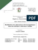 Modélisation Des Phénomènes Électromagnétiques Dans Une Machine à Reluctance Variable