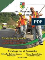 RENDICIÓN DE CUENTAS ZAMORA CHINCHIPE 2009
