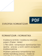 Evropski romantizam