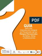 Guía Intervención Integral Prevención Riesgos Psicospociales Nna