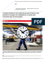 4 razones buenas (y una mala) de por qué Francia es tan productiva aunque sus trabajadores se toman más vacaciones que en otros países - El Mostrador