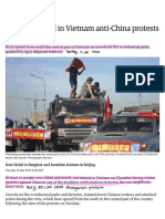 at least 21 dead in vietnam anti-china protests over oil rig - world news - the guardian