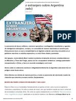 El Avance Militar Extranjero Sobre Argentina (Informe Reservado) _ Periódico Bandera