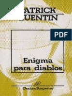 Enigma Para Diablos - Patrick Quentin
