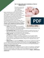 Lactancia Materna y Su Relación Con El Desarrollo Físico e Inmunológico