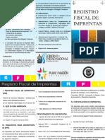 Trifolio Registro Fiscal de Imprentas SAR 2017