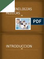 TERMINILOGIAS MEDICAS.