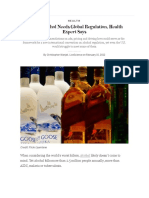 deadly alcohol needs global regulation health expert says - scientific american