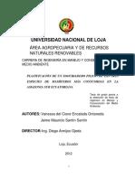 PLANIFICACIÓN DE UN ZOOCRIADERO PILOTO DE LAS TRES ESPECIES DE MAMÍFEROS MÁS CONSUMIDAS EN LA AMAZONIA SUR ECUATORIANA