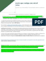 PPK Cuestionó Proyecto Que Castiga Con Cárcel Especulación de Precios
