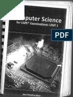 CAPE Computer SCIENCE Unit 1 Bk Computer System