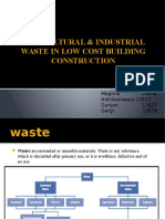 Agricultural Waste and Industrial Waste in construction