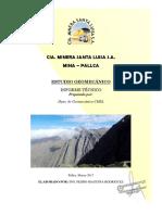 Estudio Geomecanico Pallca 2017