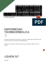 Tromboprofilaxis en paciente hospitalizado