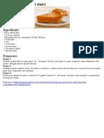 Placinta de Cartofi Dulci
