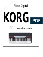 KORG SP-250  (Manual en Español)