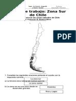 Ficha N° 3 Zona sur de Chile