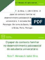 O papel do contexto familiar no desenvolvimento psicossocial do estudante universitário