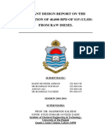 Final Year Thesis for Bs Chemical Engineering