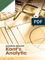 Jonathan Bennett. Kant's Analytic