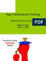 Levinger High Performance Thinking