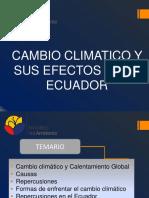 Cambio Climatico- Efectos en Ecuador- Ing. Lucia Paguay- MAE