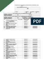 Formato de Registro de Estudiantes Del Programa de Participación Estudiantil