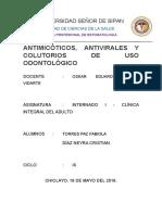 Antimicóticos, Antivirales y Colutorios de Uso Odontológico