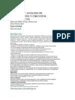 Medicin y Anlisis de Componentes y Circuitos Elctricos
