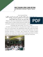 Hikmah Dan Tujuan Isra