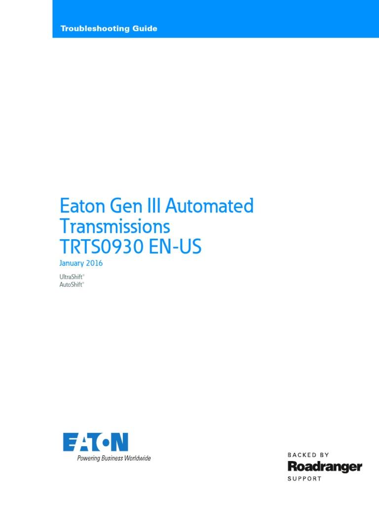 eaton gen 3 autoshift ultrashifttroubleshooting guide | clutch |  transmission (mechanics)