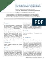 Caracterización de Las Propiedades Del Biodiesel de Girasol
