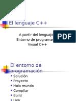 El lenguaje C++