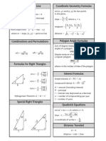 Reference Coordinate Geometry