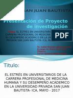 Presentacion de Proyecto de Investigacion