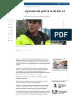 Recapturan a Agresores de Policía en TransMilenio - ELTIEMPO