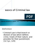 2-Basics of Criminal Law With Answers