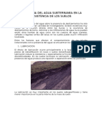 Influencia Del Agua Subterranea en La Resistencia de Los Suelos