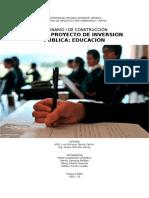 Informe PIP EDUCACION