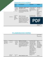 weebly - planningsschema