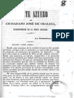 Azuero, Carta de Ultratumba a Obaldia 1853