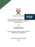 III y IV Pleno Laboral y Previsional