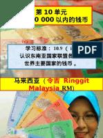 东南亚国家联盟各国和世界主要国家的钱币