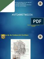 Antiarritmicos. Medicina. UNMSM. 2017